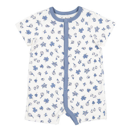 Babies Floral All-in-one Pyjamas White