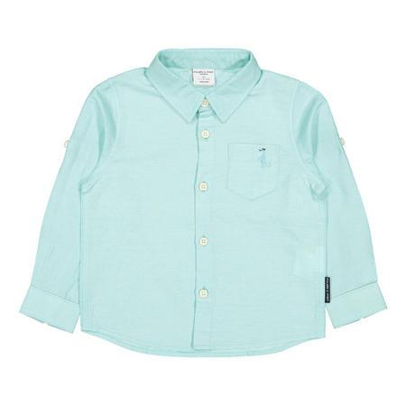Baby Boys Linen Shirt Blue