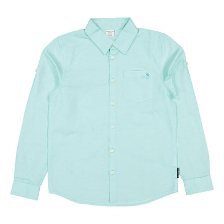 Boys Linen Shirt Blue