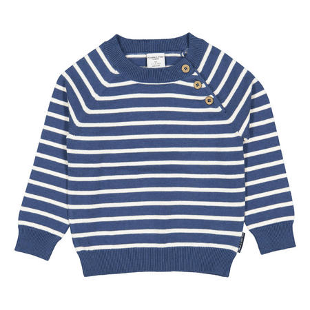 Babies Striped Jumper Blue