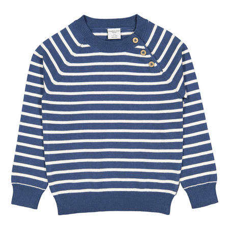 Kids Striped Cotton Jumper Blue