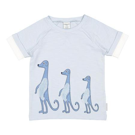 Kids Appliqué meerkat T-Shirt Blue