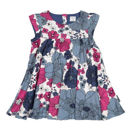 Baby Girls Floral Dress Blue