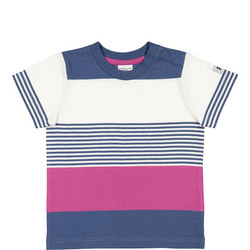 Babies Striped T-Shirt Blue