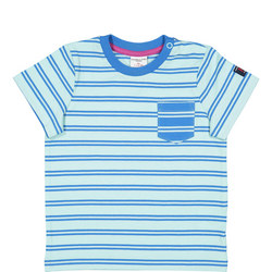Baby Striped T-Shirt Blue