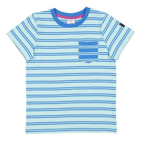 Boys Striped T-Shirt Blue