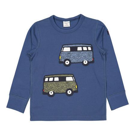 Boys Camper Van Top Blue