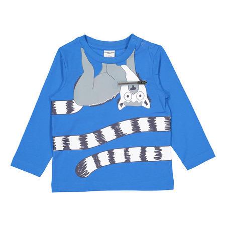Babies Lemur Print Top Blue