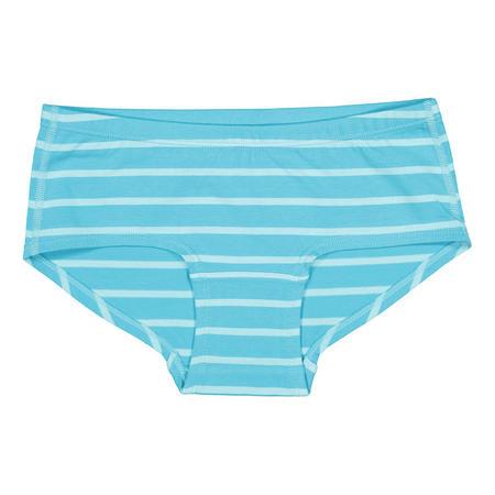 Girls Striped Print Briefs Blue