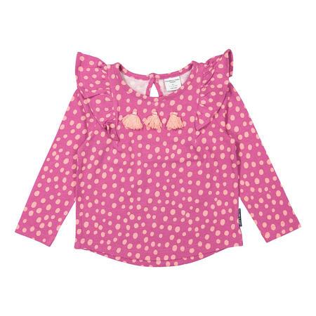 Baby Girls Polka Dot Print Purple