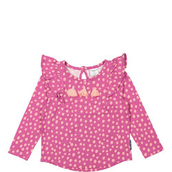 Baby Girls Polka Dot Print Purple