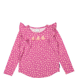 Girls Polka Dot Print Purple