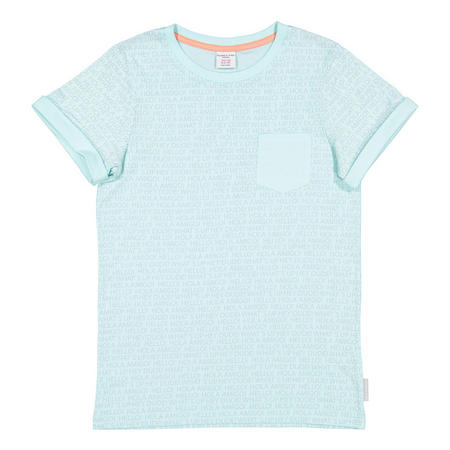 Kids Printed T-Shirt Blue