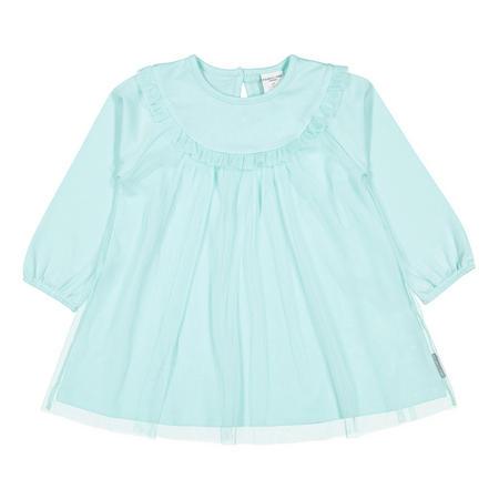 Baby Girls Tulle Overlay Dress Blue