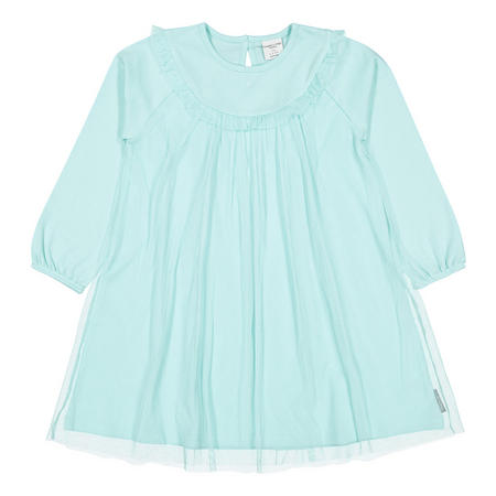 Girls Tulle Overlay Dress Blue