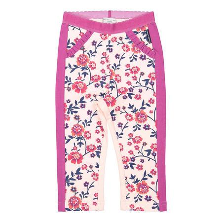 Baby Girls Floral Leggings Pink