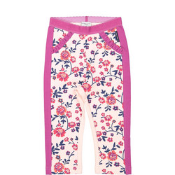 Baby Girls Floral Leggings Pink