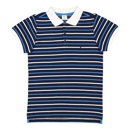 Boys Striped Polo Shirt Blue