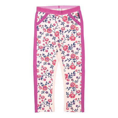 Girls Floral Leggings Pink