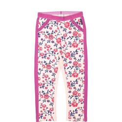 Girls Floral Leggings Pink