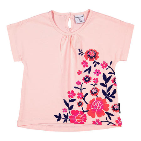 Baby Girls Floral Top Pink