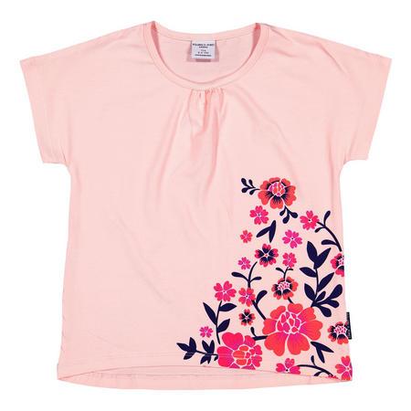 Girls Floral Top Pink