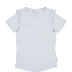 Girls Frill Detail T-Shirt Blue