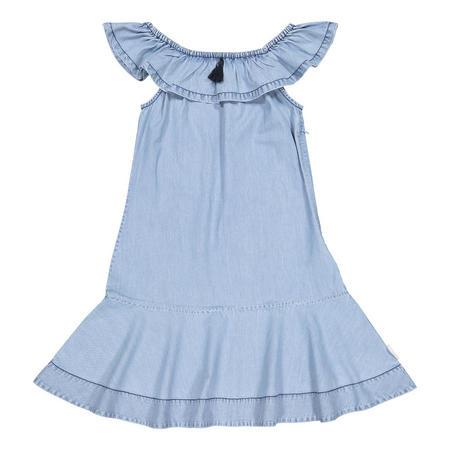 Girls Denim Dress Blue