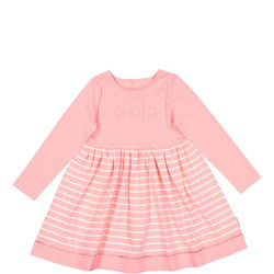 Baby Girls Embroidered Flower Dress Pink