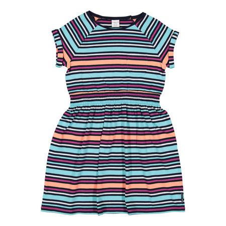 Girls Striped Dress Purple