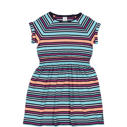 Girls Striped Dress Purple