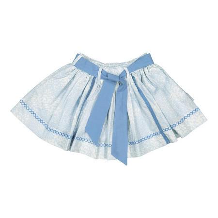 Girls Embroidered Skirt Blue