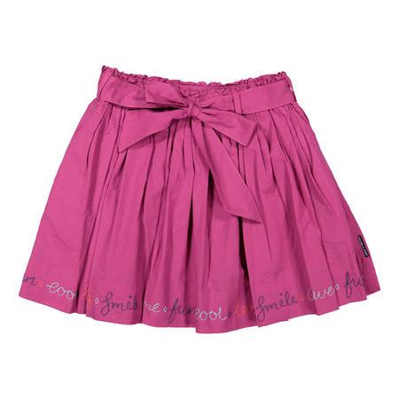 Girls Cotton Skirt Purple