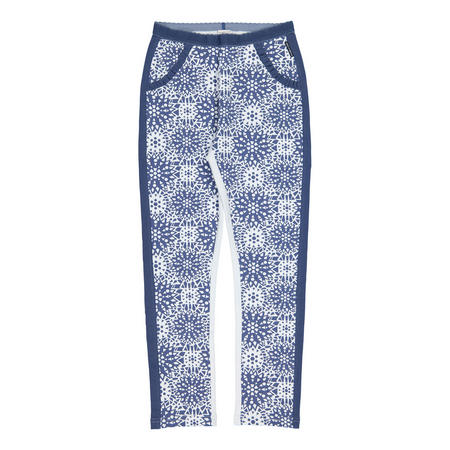 Girls Printed Leggings Blue