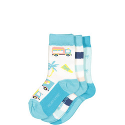 Babies 3 Pack Patterned Socks