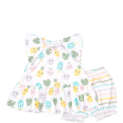 Baby Girls Summer Dress and Shorts Set