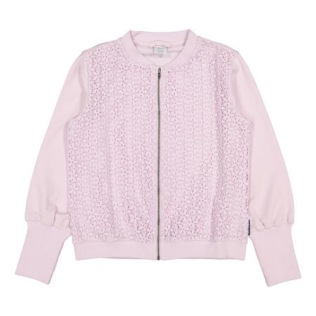 Girls Lace Front Sweat Top