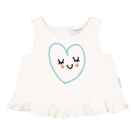 Baby Girls Sleepy Heart Top