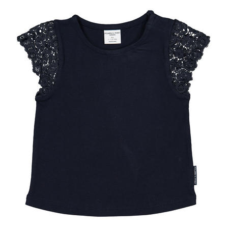 Baby Girls Lace Sleeve T-Shirt