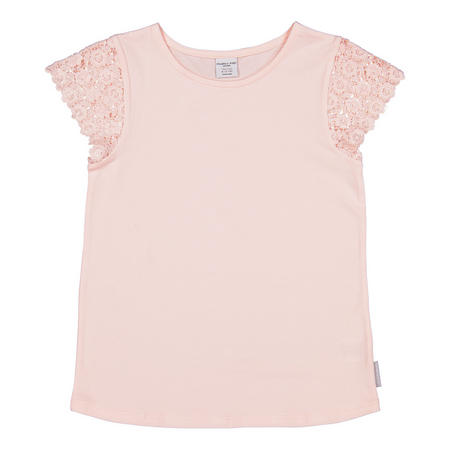 Girls Lace Sleeve T-Shirt