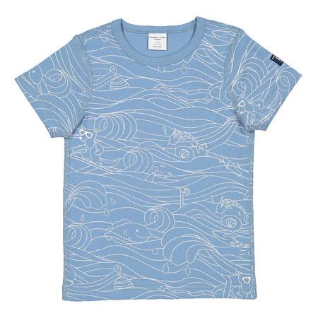 Kids Wave Print T-Shirt