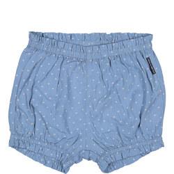 Baby Girls Heart Print Shorts