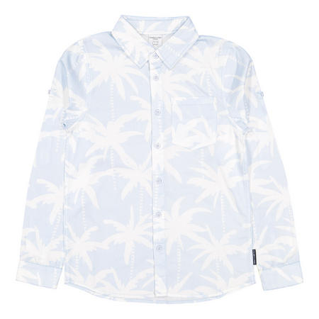 Boys Palm Tree Print Shirt