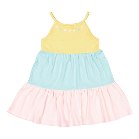 Baby Girls Block Colour Tiered Dress
