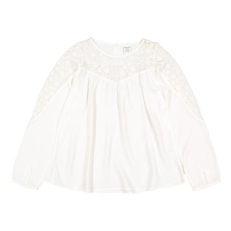 Girls Lace Yoke Top