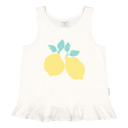 Girls Lemon Sequined Tank Top