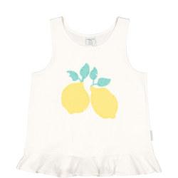Girls Lemon Sequined Tank Top