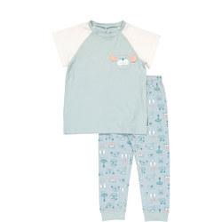 Kids Organic Pyjamas with Dog Print