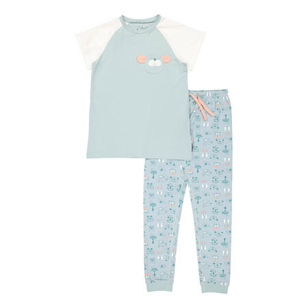 Kids Organic Pyjamas with Dog Print