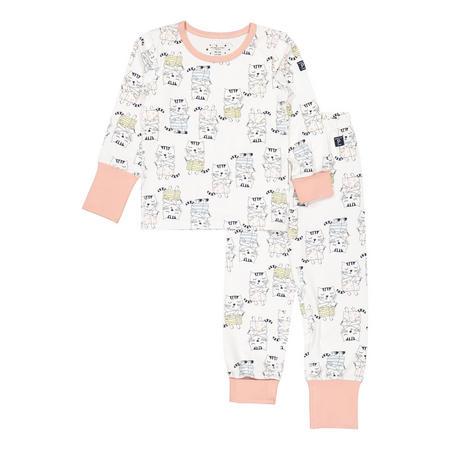 Girls Organic Pyjamas with Cat Print
